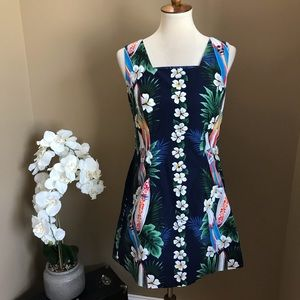 Vintage Shannon Marie Hawaiian Print Mini Dress